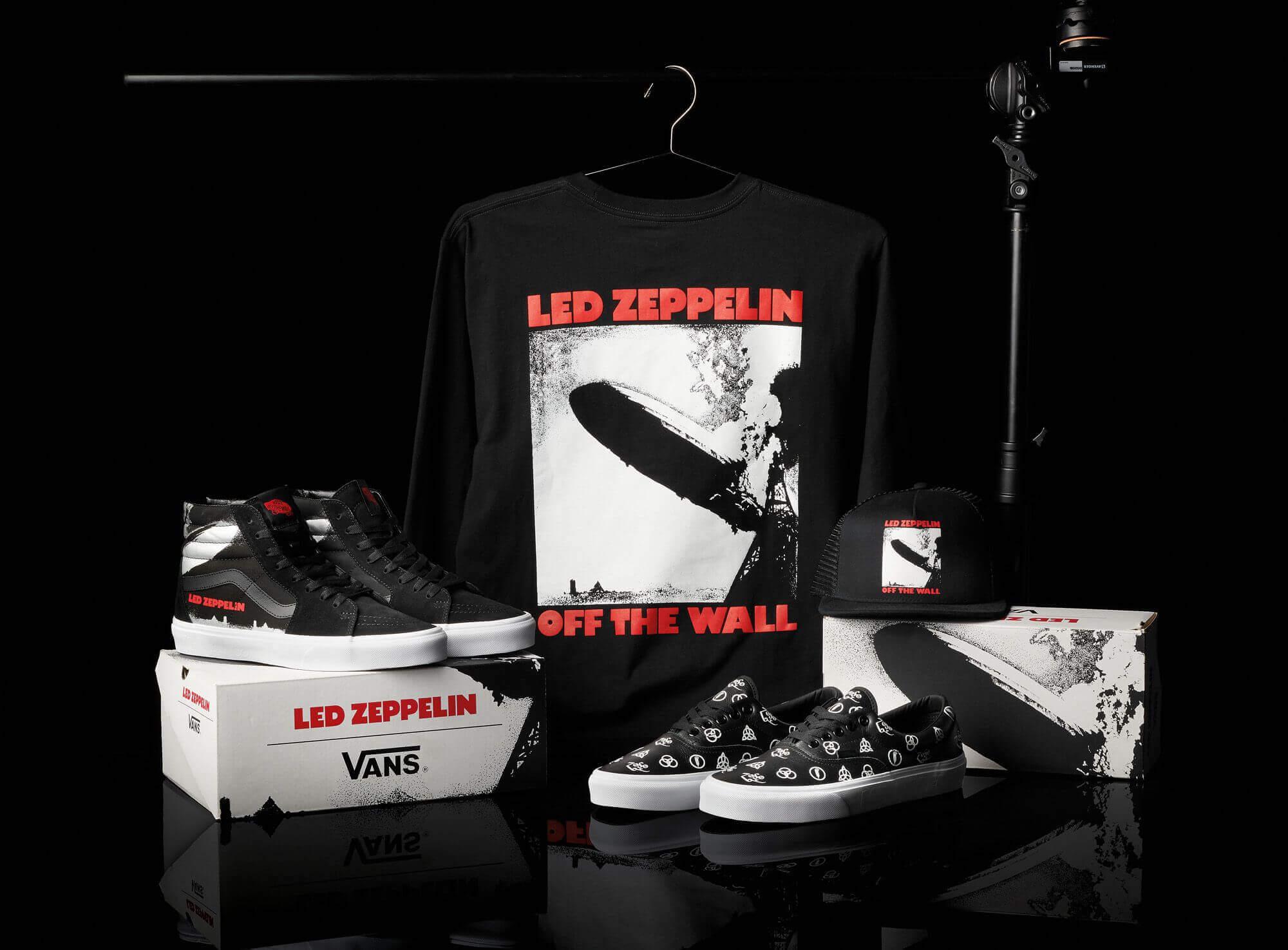 Vans y Led Zeppelin lanzaron una colección de ropa y calzado