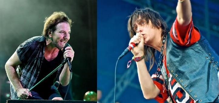 Eddie Vedder y The Strokes se unen para interpretar algunos de sus éxitos